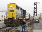CSX 2741 with Y103 waiting for RN to unlock the switch