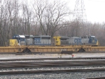 CSX 8143 & 372 sitting at the west end