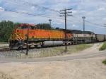 BNSF 5670 & 9809 waiting to go west with E945