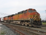 Q326-17 heading out with BNSF 4312 & 4077