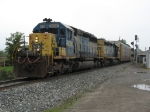Q326-23 pulling out of the siding