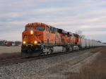 BNSF 6086 & 6014 working hard eastward shortly after sunrise with N956