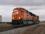 BNSF 9346 & 5851 heading west as D801