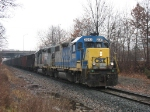 CSX 2643 & 2667 returning as Y302 with empties from MSU