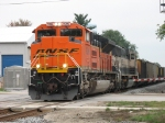 BNSF 9396 & 9425 start to pull east again with C766