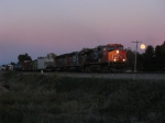 CN 2630 leading west at sunset