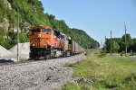 BNSF 9089 Leads a morning loaded coal down the K line.