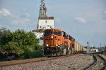 BNSF 6284 Takes charge of a empty coal.
