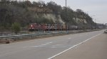 Ex-CN SD60F units in transit to new owner DMVW
