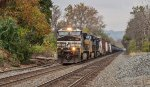 NS 9823 leading an EB manifest freight through Sinking Spring