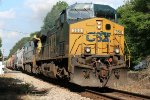 CSX AC44CW 350 and C40-8 7584 across Rock Hill Road