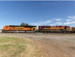 BNSF & KCSM SD70ACes 8572 & 4095