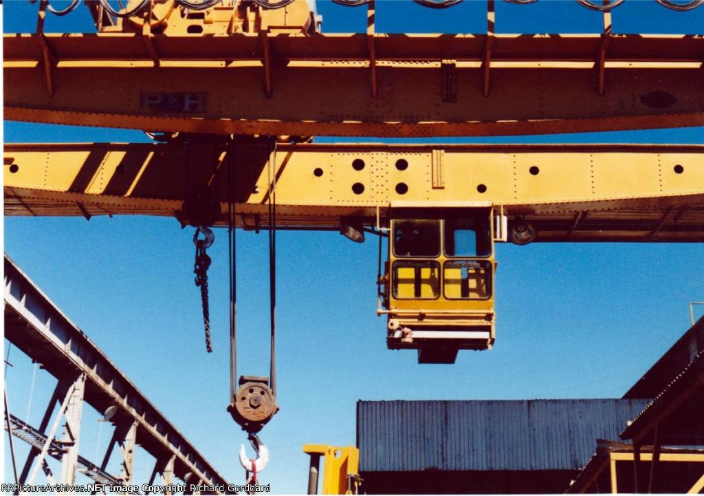 Over head rail yard crane