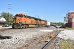 BNSF 3815 Leads a loaded Ethanol train through Old Monroe Mo.