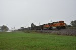BNSF 6044 leads a a coal drag down the Hannibal Sub.