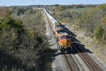 BNSF 4827 Rolls east along the Marceline Sub.