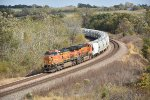 BNSF 4448 leads a Frac sand train west.