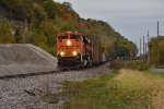 BNSF 8523 Crawls down the Hannibal Sub.