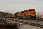 BNSF 9065 Drags a loaded coal into Old Monroe Mo.