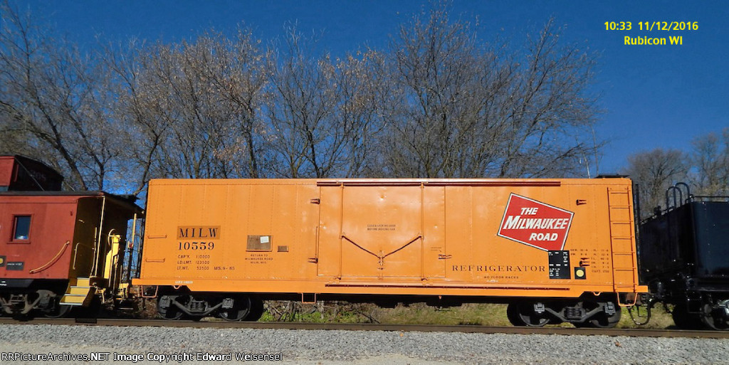 Restored insulated boxcar