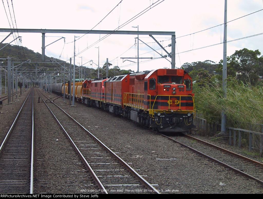 ARG 3104 CLP GM31 train 8982