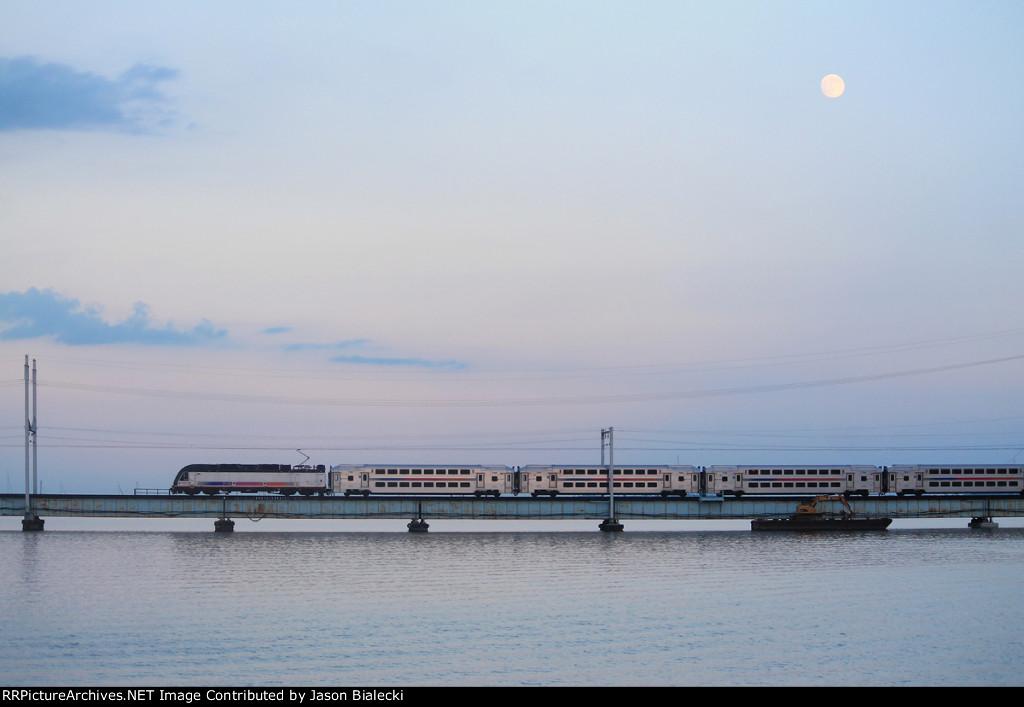 Moon over the Raritan
