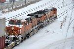 Stack train rolls east