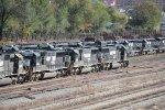 Locomotives parked in Roanoke VA yard