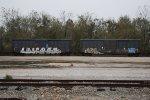 A couple boxcars.
