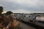 Amtrak 19 stopped at Breyer.