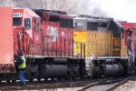 Westbound still working the yard