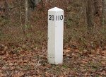 Replica mile post on ex-PRR ROW