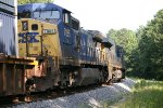 CSX ES44AH 3079 leads C40-8W 7885 NB