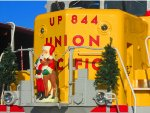 UP GP30 844 with Santa and Rudolph