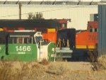 BNSF 1466 AND BCOL 4608