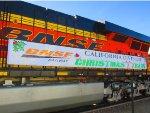 BNSF 6616 BNSF Christmas California Division visits Barstow
