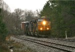 CSX ES44AH 791 leads six units