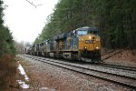 CSX ES44AH's 791 and 881 lead SD60I 8728, SD50-2 8501, AC44CW 269, and GP38-2 2690 with mixed freight