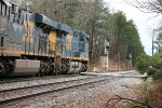 CSX ES44AH 791 leads six units across Crestwood Rd