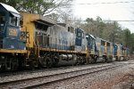 CSX AC44CW 269 runs fifth in a six-unit lash up