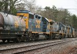 CSX ES44AH's 791 and 881, SD60I 8728, SD50-2 8501, AC44CW 269, and GP38-2 2690 cross Crestwood Rd