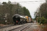 CTCX tank car 731874 at the tail end of mixed freight