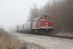 Decorated for Christmas, CN 106 leads west across the Flint Sub