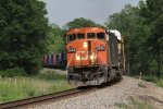 CN 2434 leans into the curve as it heads north leading A451