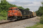 CN 2434 & IC 1017, a good pair for railfans, heads north on the Holly Sub with A451