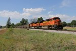 Just out of West Olive, matching BNSF SD70ACe's start toward Chicago with coal empties