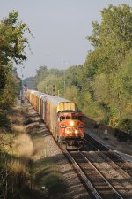 Coming away from the signals at Vernon, CN 2434 leads E276 east