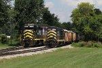 2230 rolls to a stop alongside the ballast train