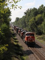 CN 2892 leads two other GE's east on Main 2 with M398