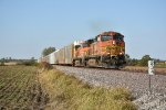 BNSF 5436 Leads a eastbound auto rack down the Transcon.